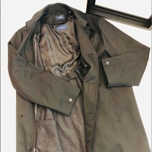 TURNBURY Raincoat Trench Removable WOOL Liner 44L